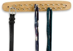 Bamboo Finish Tie and Belt Rack