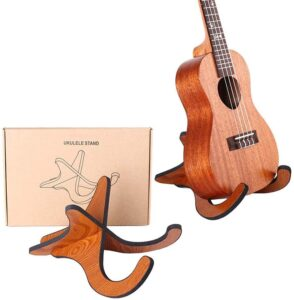 Moon Moonlala Wooden Portable Stand For Small Guitars