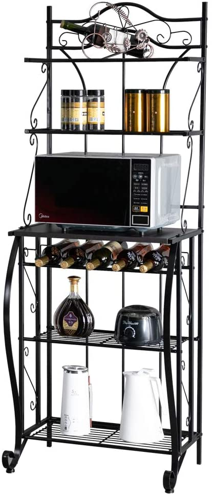 ROVSUN Multiuse 5-Tier Metal Kitchen Bakers Rack
