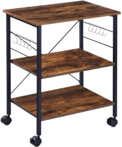 KINGSO Kitchen Microwave Cart 3-Tier Kitchen Bakers Rack