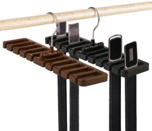 MEZOOM Belt Rack 2pcs Belt Hangers Tie Holder