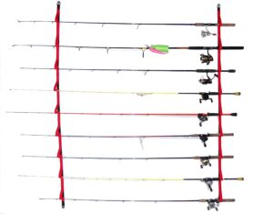 Camping and Kayaking Overhead or Wall Fishing Rod Rack