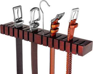 HOUNDSBAY Block - Solid Mahogany Belt Holder